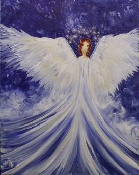 Barb suggested we both paint this Angel that a friend of hers painted.