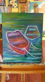 Barb's Boats that she painted